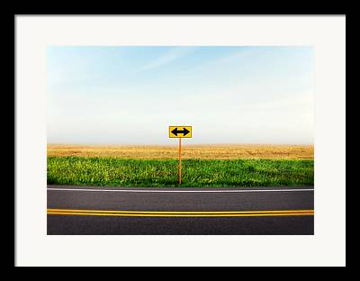 Crossroad Framed Prints