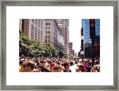 Crosswalk  Framed Print by Brian Nogueira