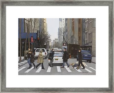 Crosswalk Framed Print by Linda Tenukas