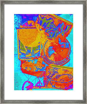 Crosswalk One Framed Print by Randall Weidner