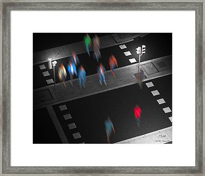 Crosswalk Framed Print by Pedro L Gili