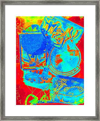 Crosswalk Two Framed Print by Randall Weidner