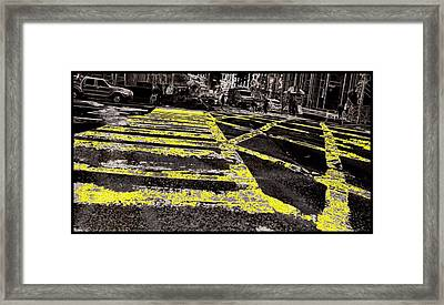 Crosswalks In New York City Framed Print by Dan Sproul