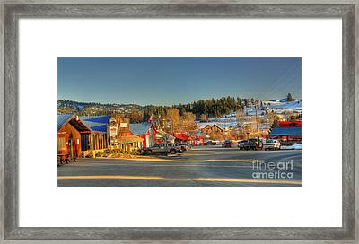 Framed Print featuring the photograph Crouch Main St by Sam Rosen