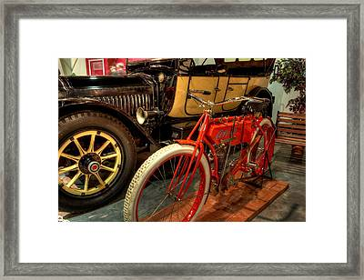 Crouch Motorcycle Framed Print