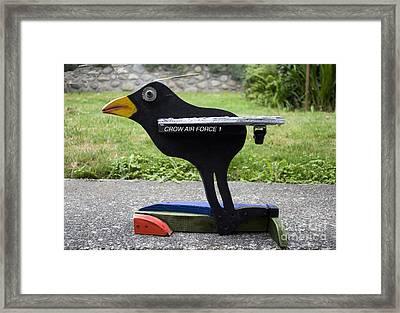 Crow Air Force 1 Framed Print