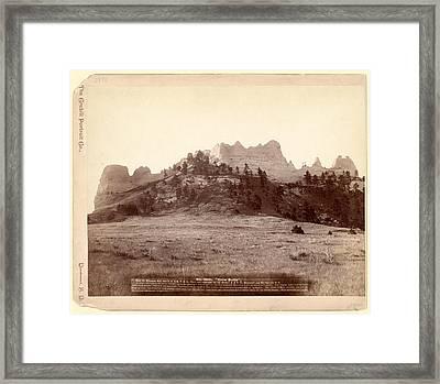Crow Butte. Near Ft. Robinson, Neb. And F.e. & M.v. R.r. -- Framed Print
