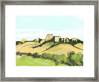 Crow Butte Framed Print