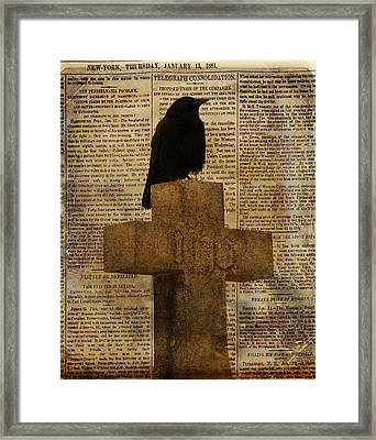 Crow Collage Framed Print by Gothicrow Images