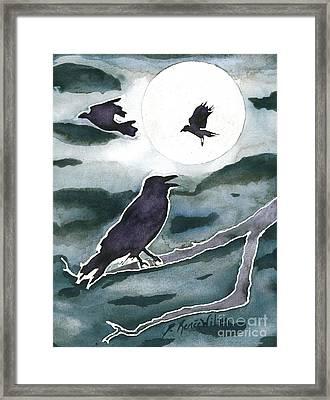 Crow Moon Framed Print by D Renee Wilson