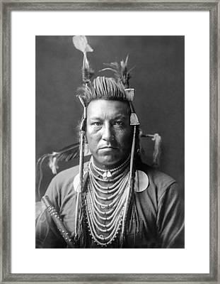 Crow Indian Circa 1908 Framed Print