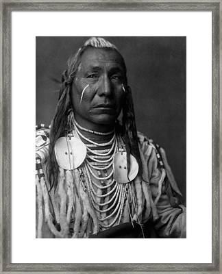 Crow Indian Man Circa 1908 Framed Print