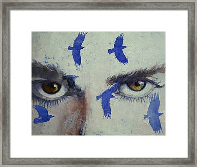 Crows Framed Print by Michael Creese