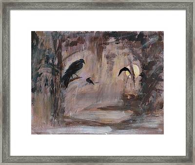 Crow Moon Framed Print