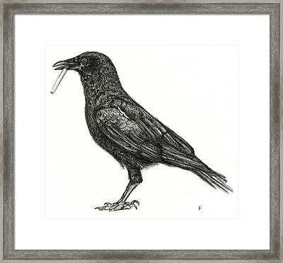 Crow Framed Print by Penny Collins