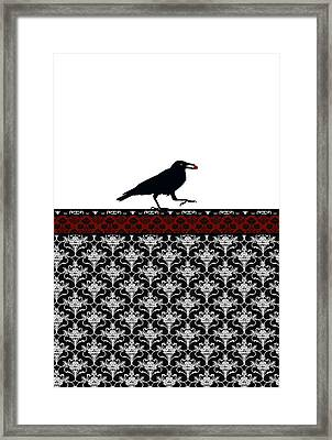 Crow With Paisly Framed Print by Jenny Armitage