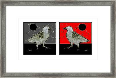 Crow5 Framed Print by Herb Russel