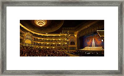 Crowd At Mariinsky Theatre, St Framed Print