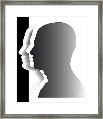 Crowd - Heads - Teamwork Framed Print by Michal Boubin