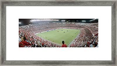 Crowd In A Stadium, Sevilla Fc, Estadio Framed Print