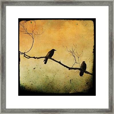 Crowded Branch Framed Print
