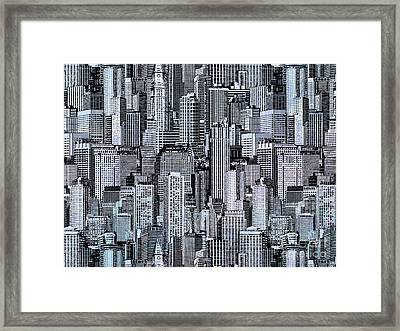 Crowded City Framed Print by Bedros Awak