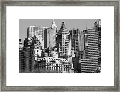 Crowded City Ny Framed Print by Thomas Fouch