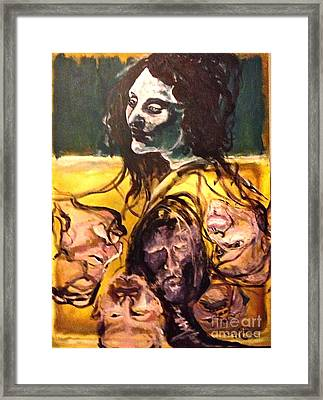 Crowded Headroom  Framed Print by Michelle Dommer