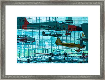 Crowded Skies Framed Print by Rich Priest