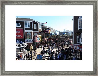 Crowds At Pier 39 San Francisco California 5d26127 Framed Print