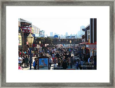 Crowds At Pier 39 San Francisco California 5d26134 Framed Print