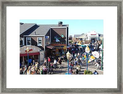 Crowds At Pier 39 San Francisco California 5d26135 Framed Print