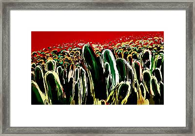 Crowds Framed Print by Vandana Rajesh