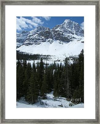 Crowfoot Mountain - Canada Framed Print by Phil Banks