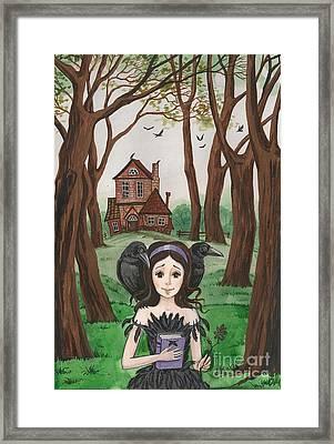 Crowgirl Framed Print by Margaryta Yermolayeva