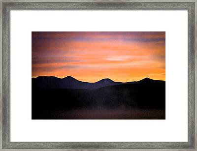 Crowley Lake Sunrise Framed Print by Sherri Meyer