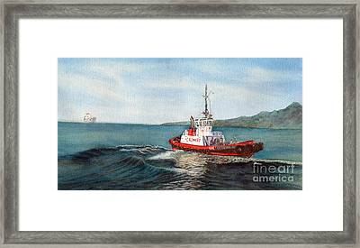 Crowley Tug Framed Print