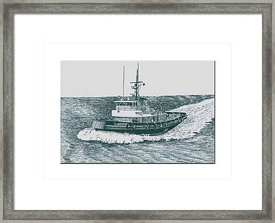 Crowley Tugboat Ocean Going Gladiator Framed Print by Jack Pumphrey