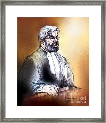 Crown Attorney Jim Hughes At His Closing Address During Paul Poby Trial Framed Print