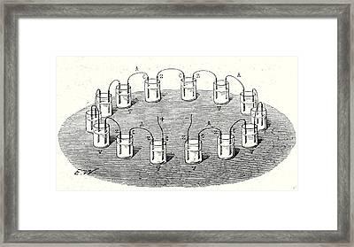 Crown Battery Framed Print