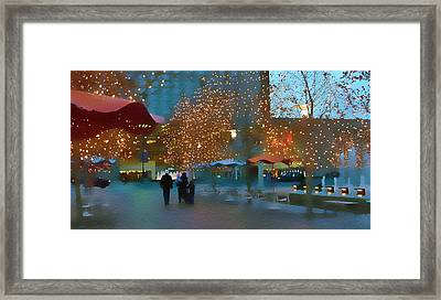Crown Center Christmas Framed Print by Ellen Tully