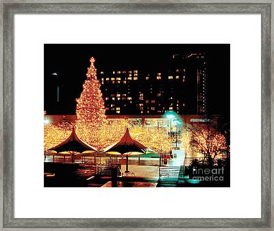 Crown Center Christmas - Kansas City-1 Framed Print by Gary Gingrich Galleries