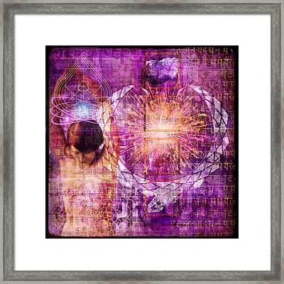 Crown Chakra. Framed Print by Mark Preston