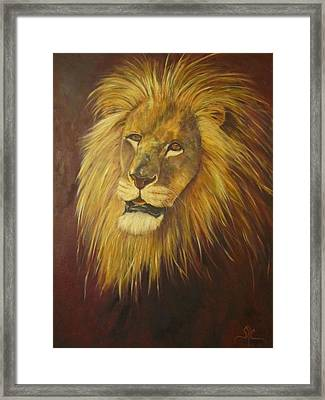 Crown Of Courage,lion Framed Print