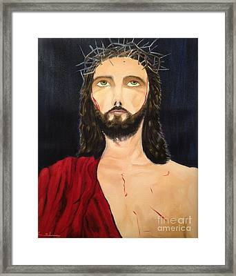 Crown Of Thorns Framed Print by Brindha Naveen