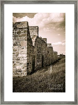 Crown Point New York Old British Fort Ruin Framed Print
