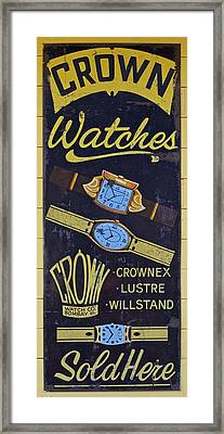 Crown Watches Framed Print