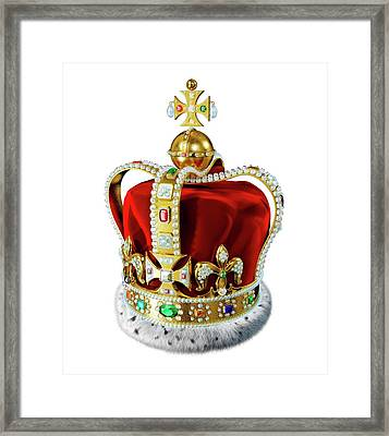 Crown With Jewels Framed Print by Leonello Calvetti