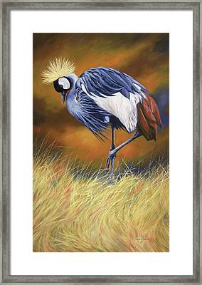 Crowned Framed Print by Lucie Bilodeau