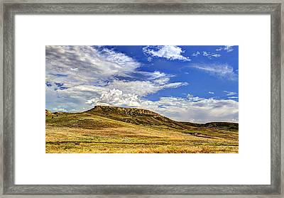 Crowned Ridge Framed Print